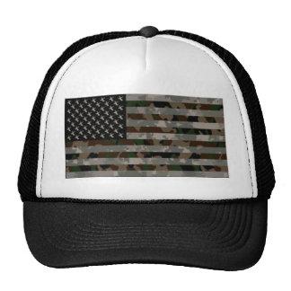 Camouflaged American Flag Trucker Hat