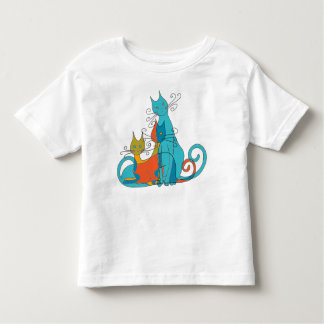 Camouflaged cats toddler t-shirt