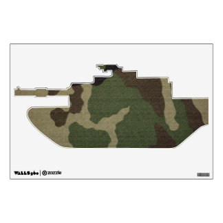Camouflaged Military Tank 1 Wall Sticker