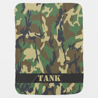 Camouflaged Pattern Personalized Baby Blankets