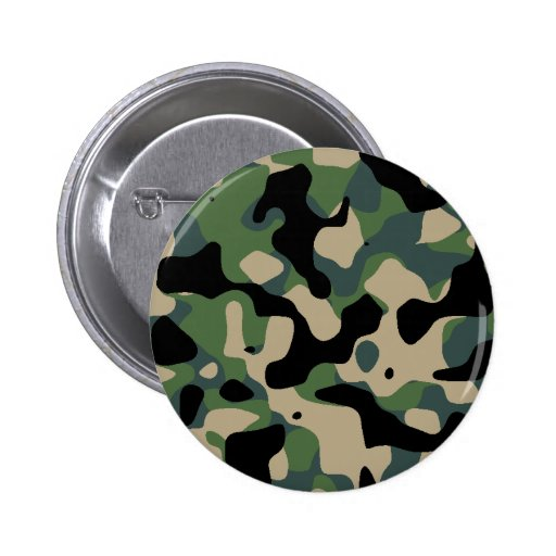 Camouflaged standard jungle pinback button