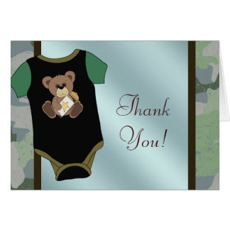 Camouflauge Baby Boy Shower Thank You Cards