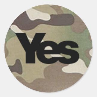 Camouglage Yes Sticker