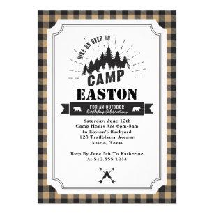 Cabin invitations announcements zazzle ca camp birthday party invitation stopboris Images