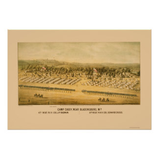 Camp Casey and Fort Lincoln near Bladensburg 1861 Poster
