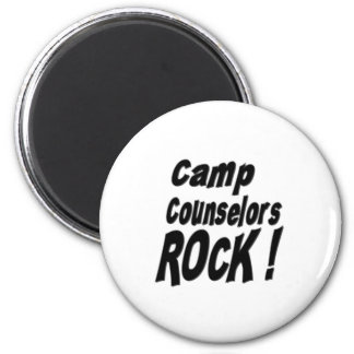 Camp Counselors Rock Magnet