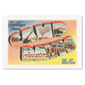 Camp Davis North Carolina NC Old Vintage Postcard- Tissue Paper
