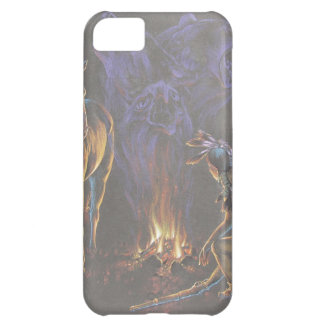 Camp Fire Native American Indian Warrior iPhone 5C Covers