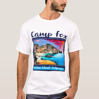 Camp Fox Blue and Red Sky in Blue Frame T-Shirt