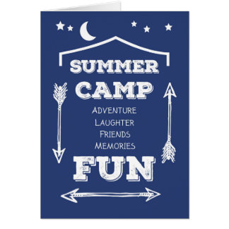 Camp Fun Navy Blue, White Arrows Card