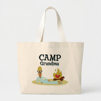 Camp Grandma Fashion Large Tote Bag