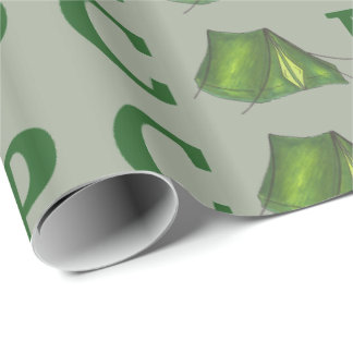 CAMP Green Tent Summer Camping Camper Gift Wrap