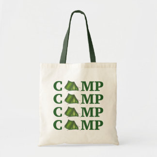 CAMP Green Tent Summer Camping Hiking Camper Tote
