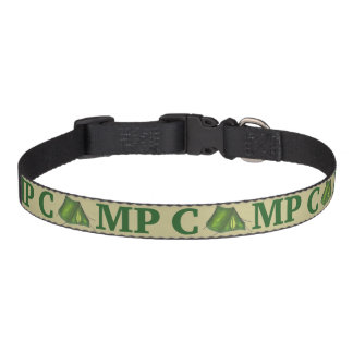 CAMP Green Tent Summer Camping Hiking Dog Collar