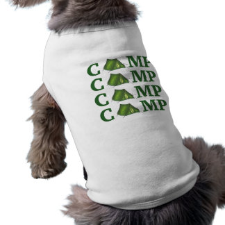 CAMP Green Tent Summer Camping Hiking Dog Shirt