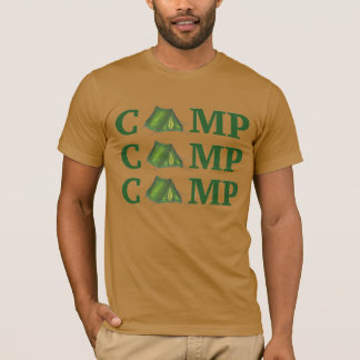 CAMP Green Tent Summer Camping Hiking Gift Tee