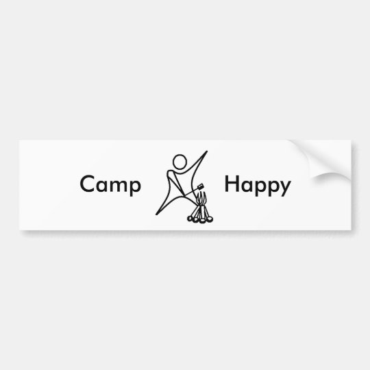 Camp Happy 01, Bumper Sticker