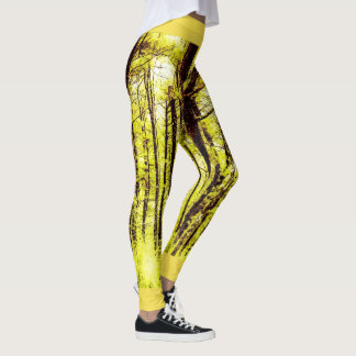 Camp John Hay Pine Forest Yellow Leggings
