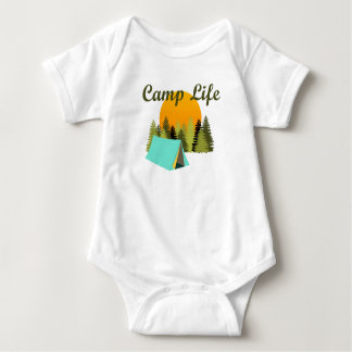 Camp Life Fun Tent Camping Wilderness Baby Outfit Baby Bodysuit