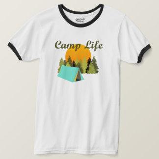 Camp Life Fun Tent Camping Wilderness Ringer Tee