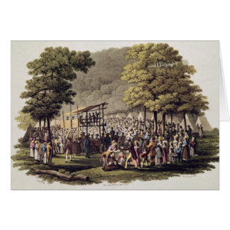 Camp Meeting of the Methodists in North Cards