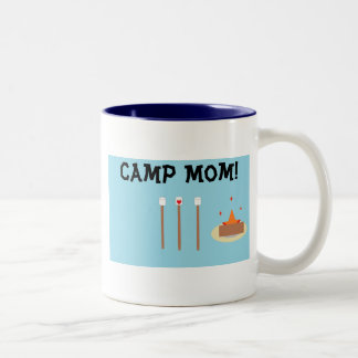 Camp Mom! Two-Tone Coffee Mug