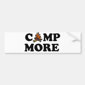 Camp More Campfire Bumper Sticker