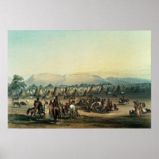 Camp of Piekann Indians Poster