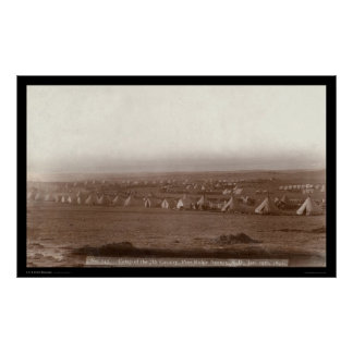 Camp of the 7th Cavalry at Pine Ridge SD 1891 Poster