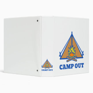 Camp out 3 ring binders