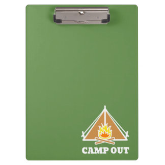 Camp out clipboard