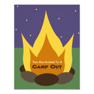 Camp Out Invitation - Camp Fire