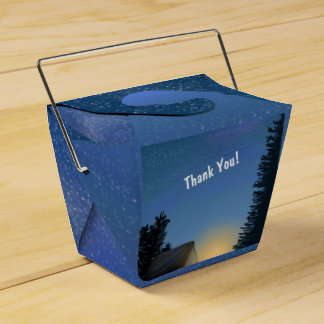 Camp Out Starry Night Favor Box