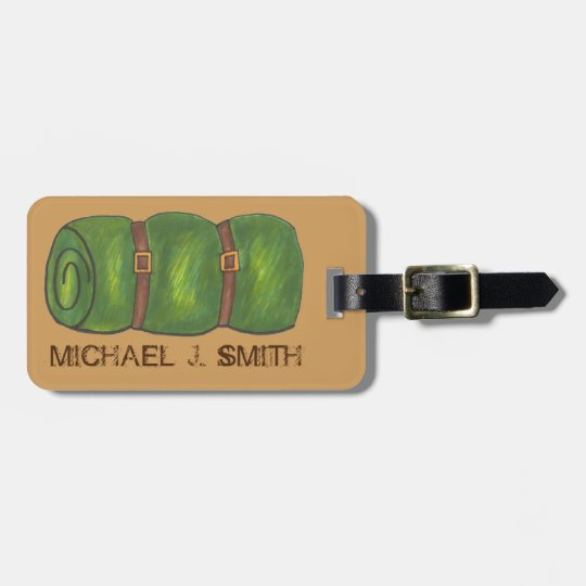 Camp Roll Camping Sleeping Bag Luggage Tag