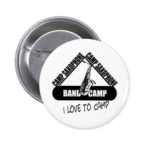 Camp Saxophone Pinback Buttons