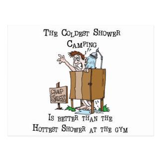 Camp Shower Postcard