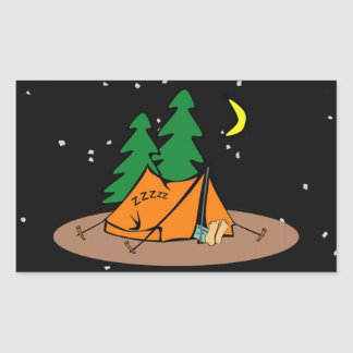 Camp Snore ~ Black & Starlike Background Sticker