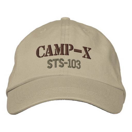 Camp-X Embroidered Cap (Khaki) Embroidered Baseball Caps