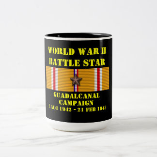 Campagne de Guadalcanal Tasse 2 Couleurs