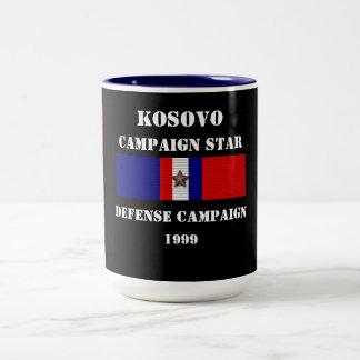 Campagne de la défense de Kosovo Mug Bicolore