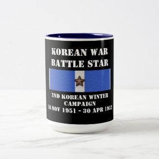 Campagne en second lieu coréenne d'hiver mug bicolore