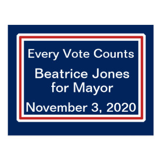 Campaign Election Night Candidate Motto Template Postcard