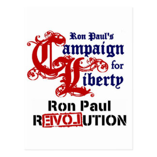 Campaign For Liberty Ron Paul Postcard