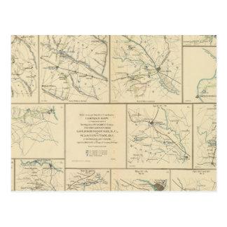 Campaign maps SavannahWashington, DC Postcard