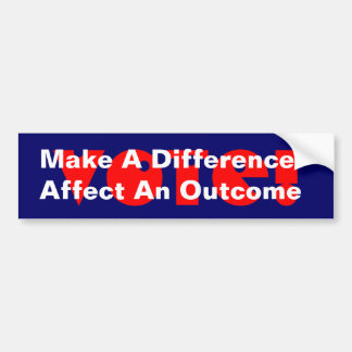 Campaign to Get Out The Vote Bumper Stickers stick