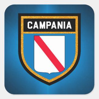 Campania Flag Square Sticker