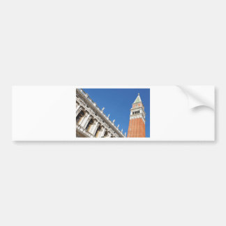 Campanile tower in Venice, Italy Bumper Sticker