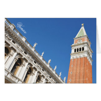 Campanile tower in Venice, Italy Card