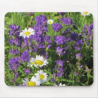 Campanula Bellflower Ox-eye Daisy Mouse Pad