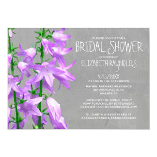 Campanula Bridal Shower Invitations